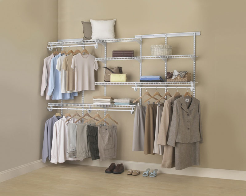 Perfect For Walk In And Reach In Closets Or Any Space Where Hanging Clothes  Is The Primary Purpose. Features A Sturdy ¾u201d Hang Rod For Extra Strength